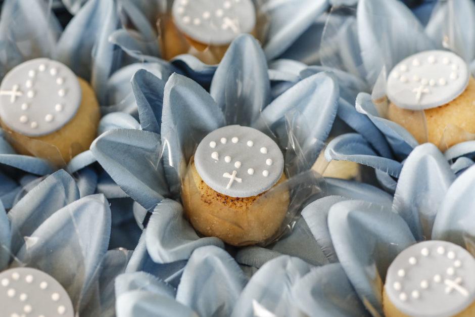 doces com terninhos confeitados