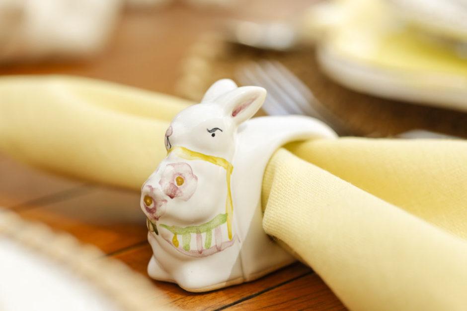 porta-guardanapo coelho couvert