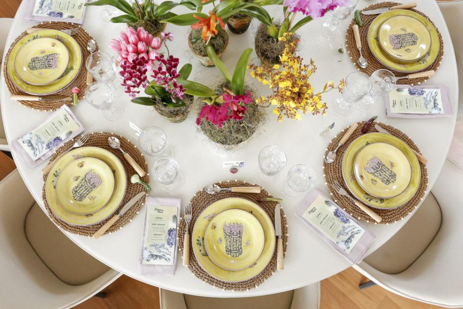 mesa decorada para pascoa