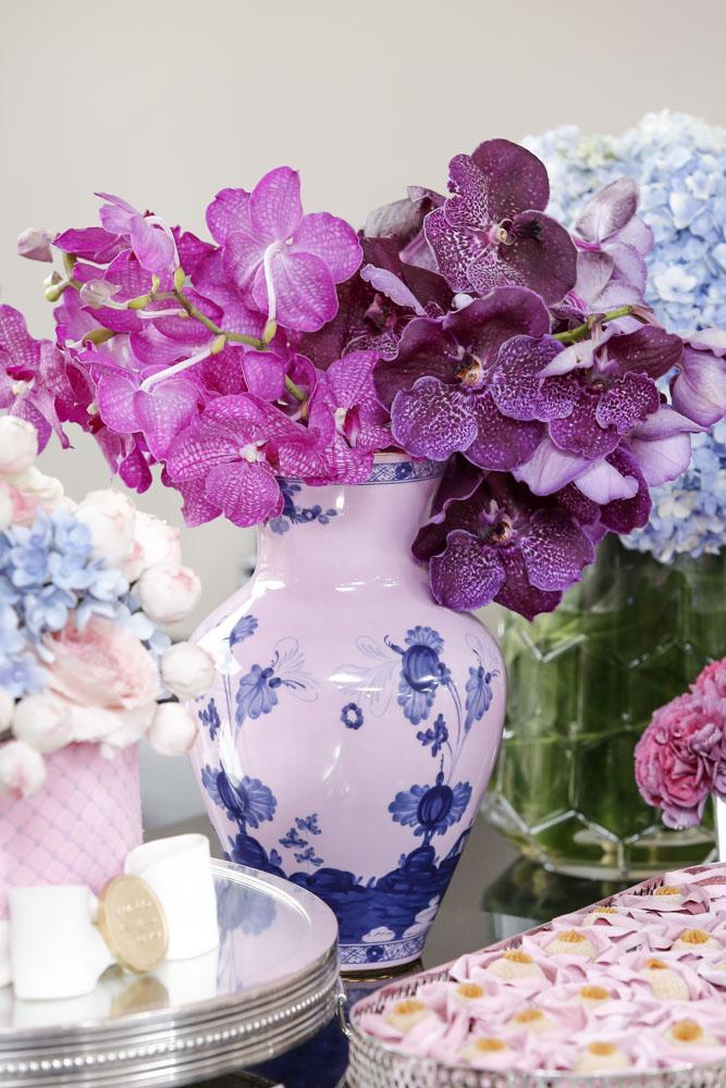 vaso de porcelana italiana