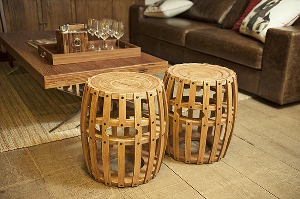 banco barril tonel de madeira Cecilia Dale
