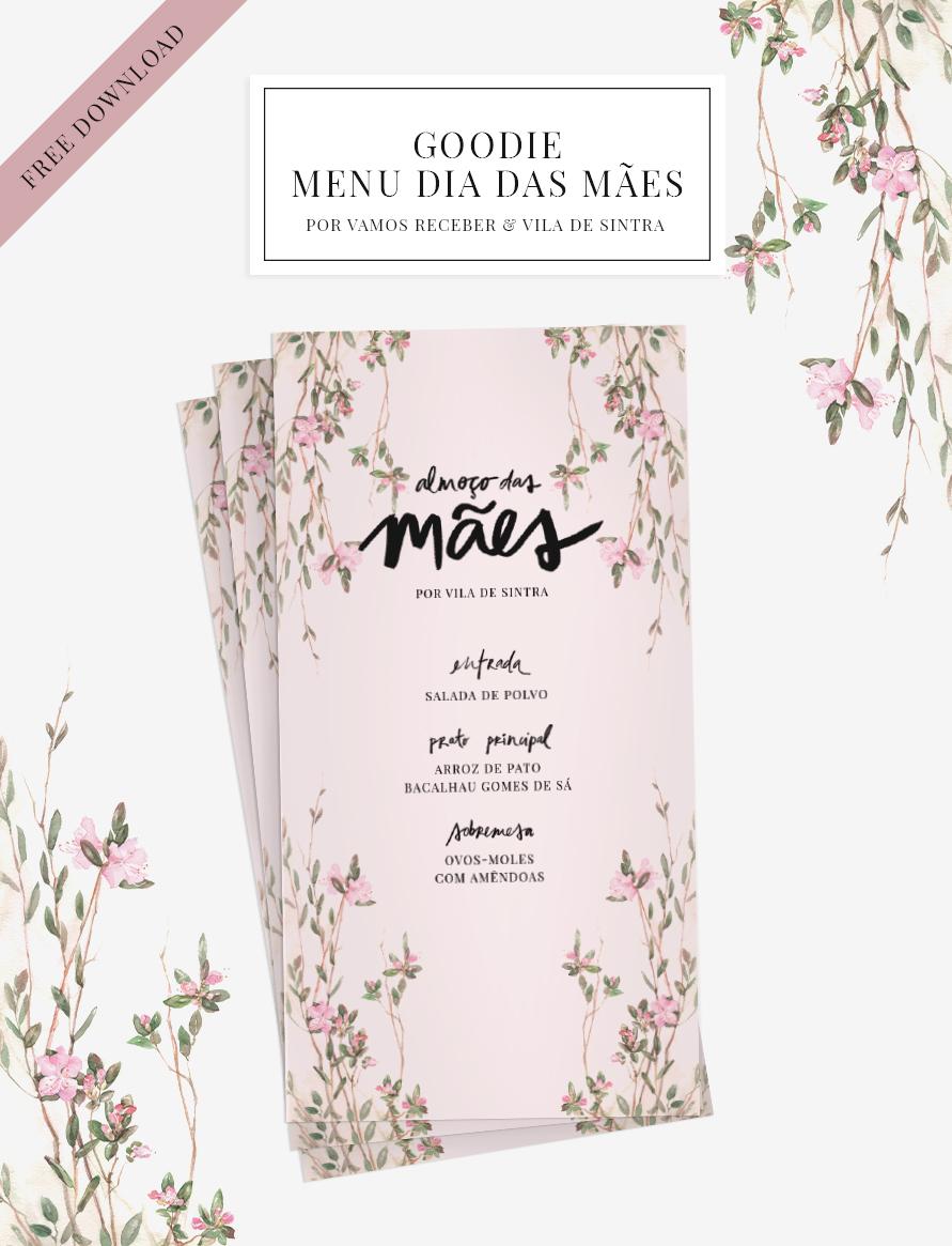 menu para o dia das mães