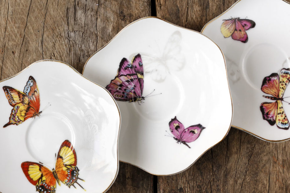 louça de borboleta