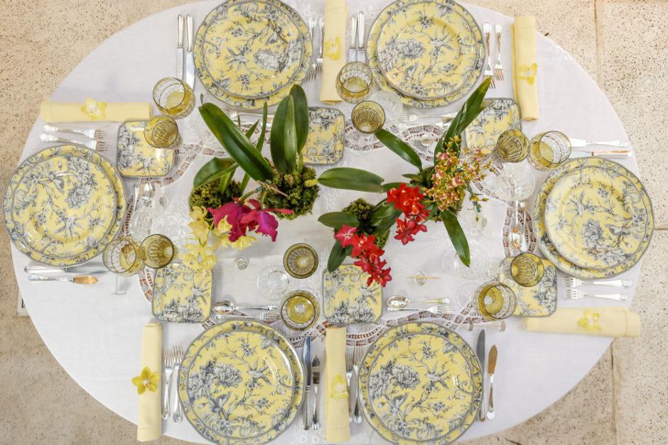 mesa posta para jantar português