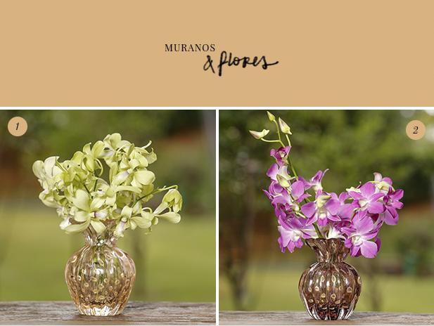 muranos e flores
