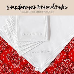 guardanapos personalizados em alto-relevo Relevo Guardanapos
