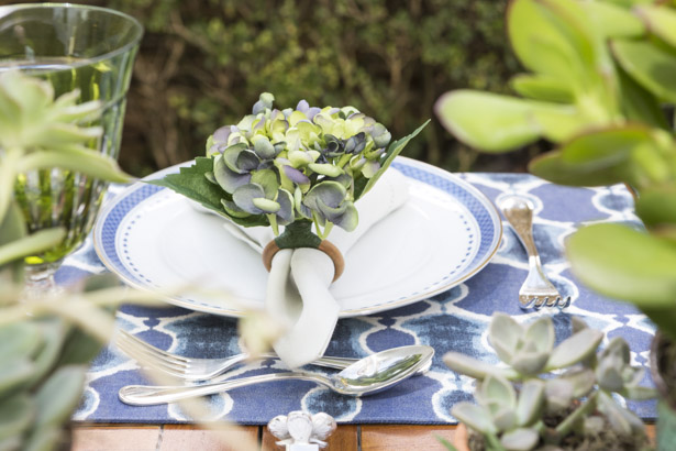 porta-guaradanpo de flor de hortênsia
