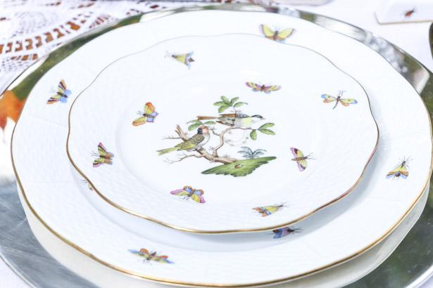 Coleção Rothschild Bird louça Herend com pintura de pássaros