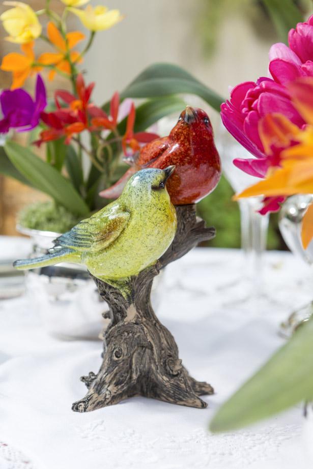 pássaros de porcelana para decorar