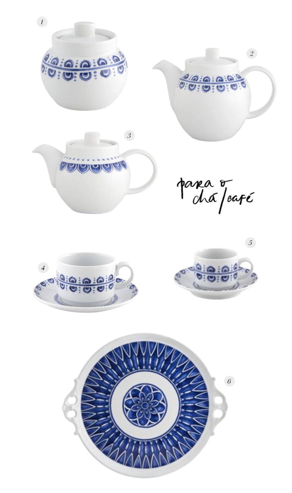 louça para servir chá
