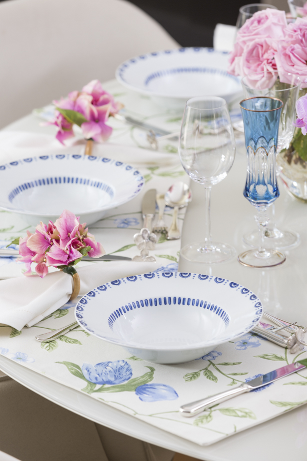 pratos de massa Azure porcelana portuguesa