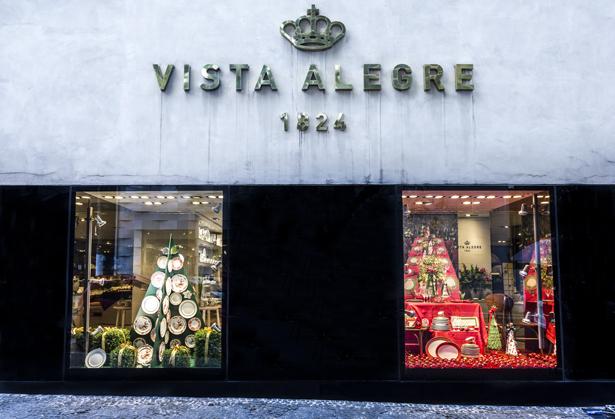 vitrine de Natal Vista Alegre