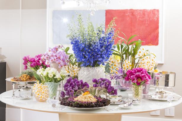 mesa buffet aniversário de casamento