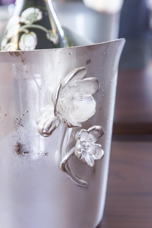 balde de gelo de prata