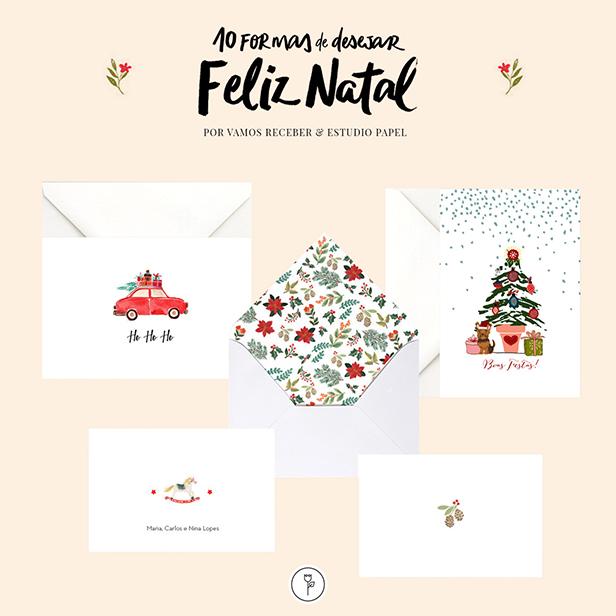 cartão de natal estúdio papel