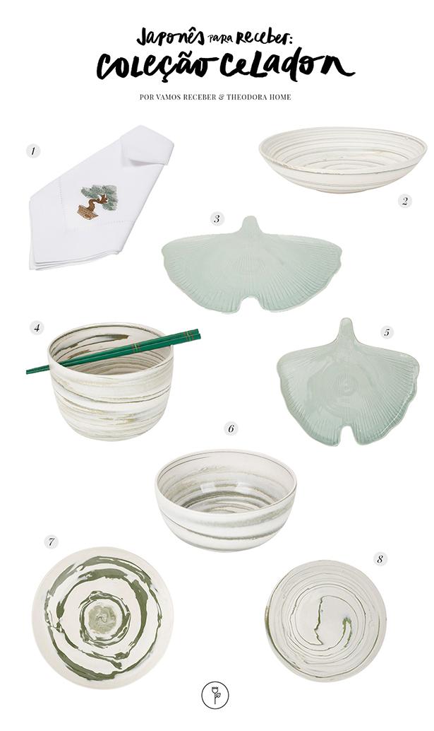 cerâmica para servir japonês theodora home