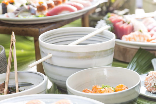 bowl de cerâmica para comida japonesa