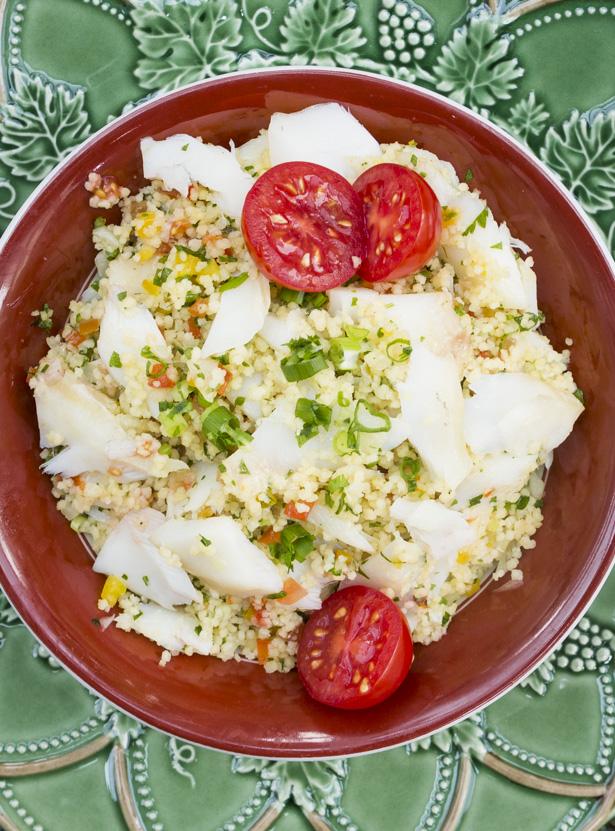 cuscuz marroquino com lascas de bacalhau vila sintra