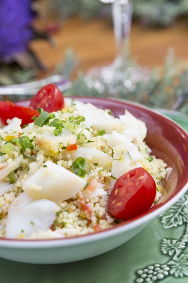 cuscuz marroquino com lascas de bacalhau vila de sintra