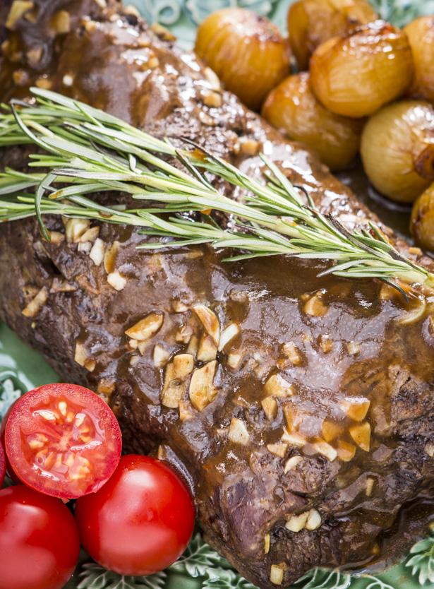carne assada ao molho de vinho do Porto