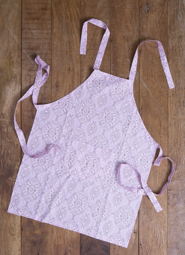 avental de bandana rosa claro dash uniformes