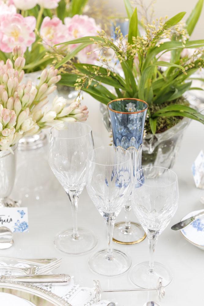 taças de cristal para mesa posta