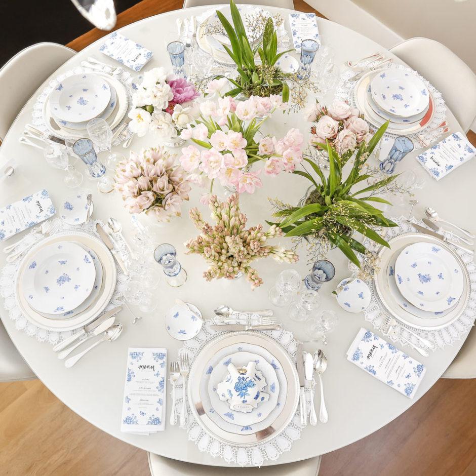 mesa posta para jantar especial