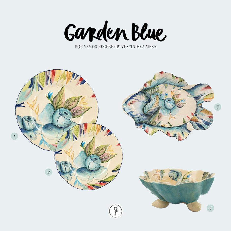 garden blue louça Vestindo a Mesa