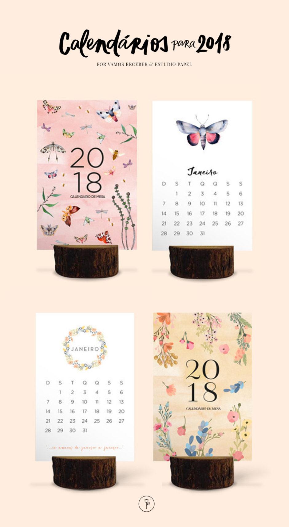 calendário de mesa estúdio papel