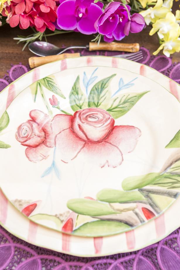 louça Garden Rose Vestindo a Mesa