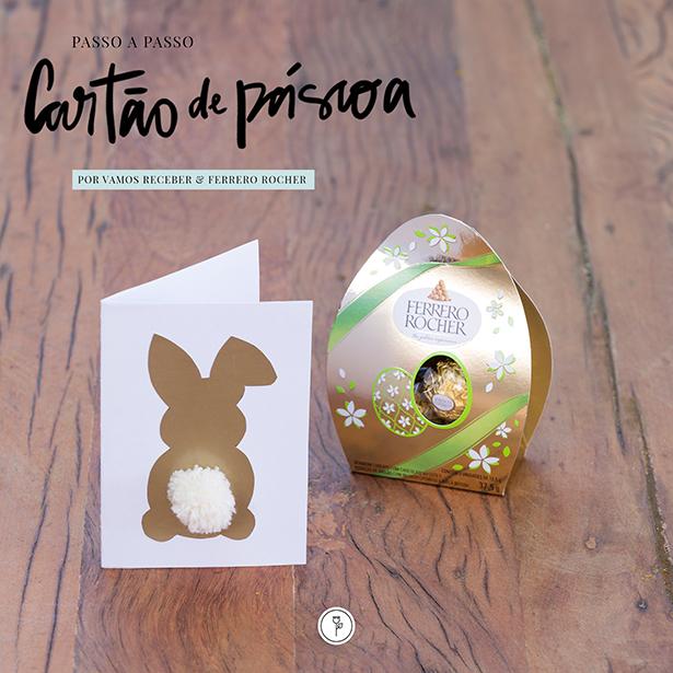 passo a passo cartão de Páscoa Ferrero Rocher