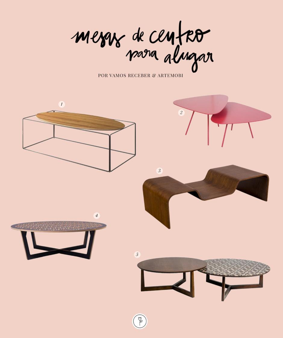 mesas de centro com design para alugar da artemobi