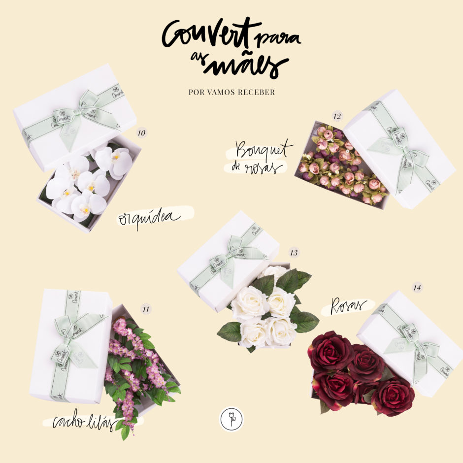 presentes para o Dia das Mães porta-guardanapos de flores delicadas Couvert