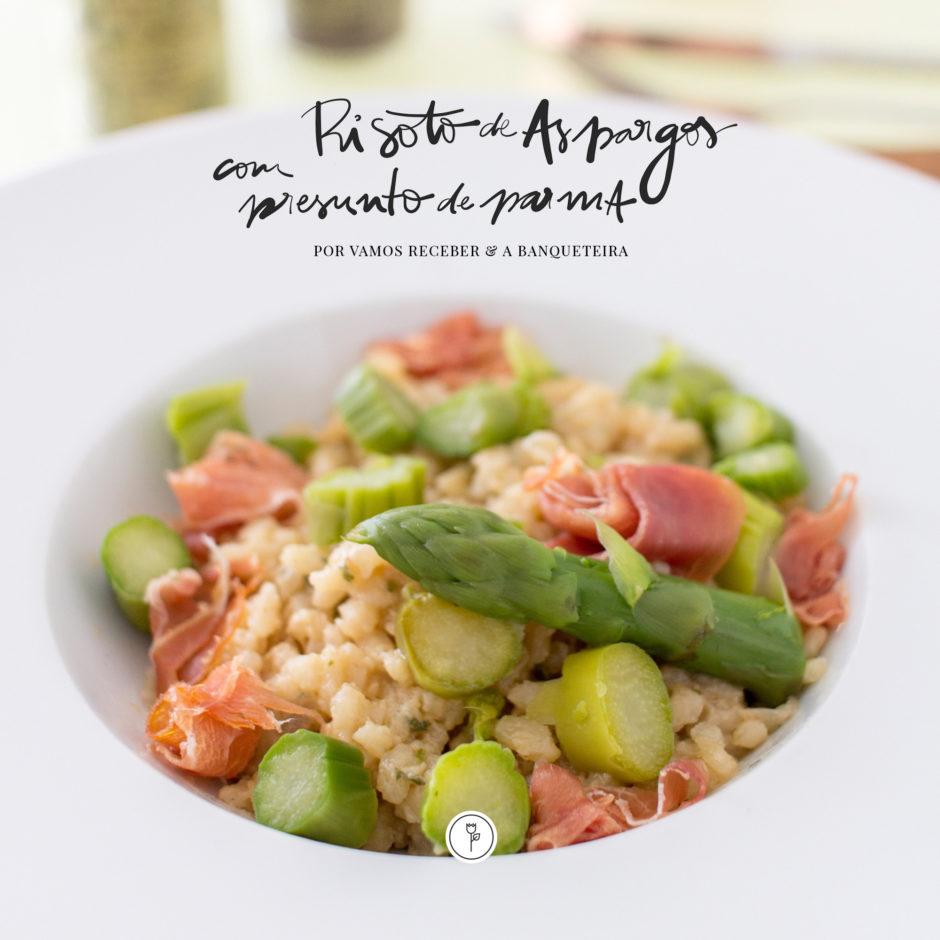 receita de risoto de aspargos com parma a banqueteira