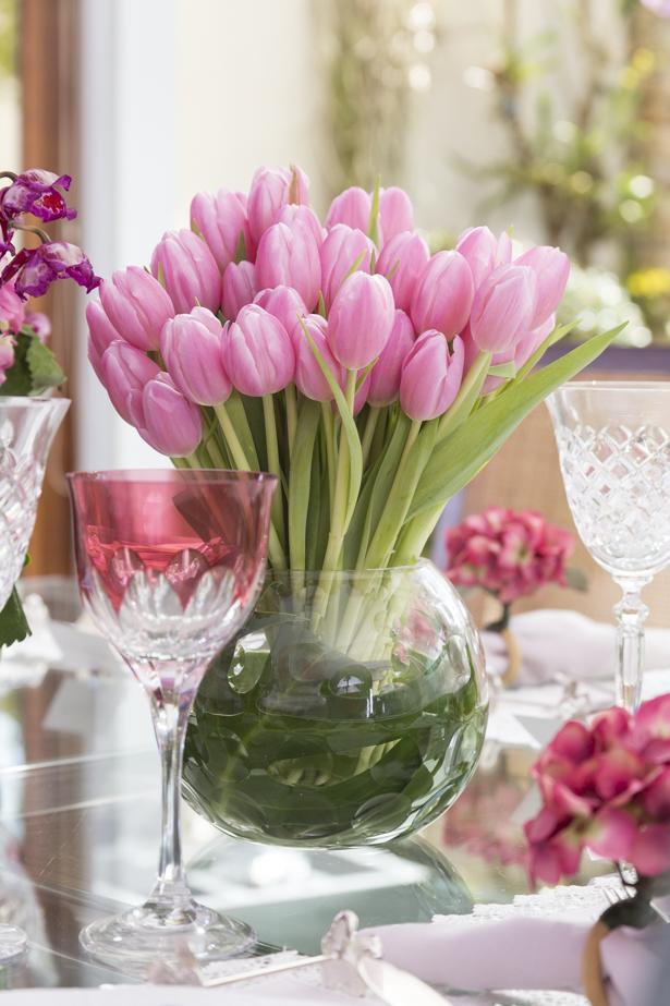 tulipas rosas para o dia das mães