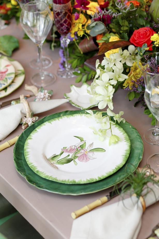 coleção orquídea vestindo a mesa