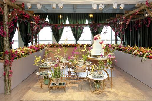 inspiração de mesa e decoração para um mini wedding