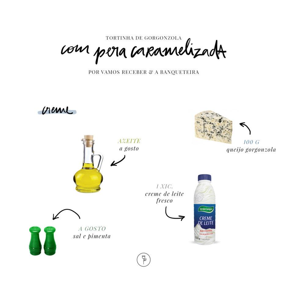 ingredientes creme de gorgonzola a banqueteira
