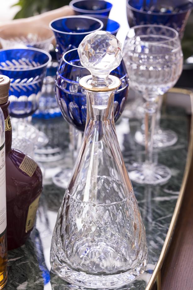 licoreira de cristal transparente matisse casa
