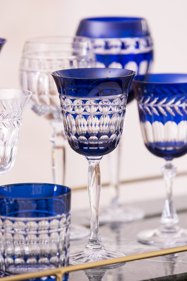 taças de cristal azuis da matisse casa
