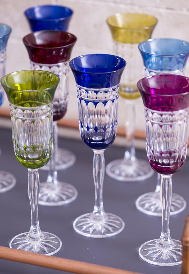 taças de cristal coloridas matisse casa